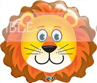 Cute Lion Face Foil Balloon