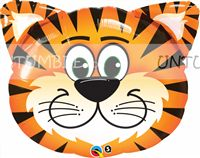Cute Tiger Face Foil Balloon