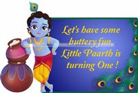 Krishna with pots poster
