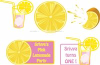 Lemonade Birthday Cutouts (price/ piece)