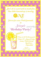 Lemonade Birthday Invite