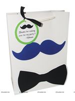 Dark Blue with Bow Tie Gift Bags