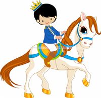 Cute Prince on horse