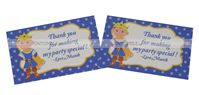 Little Prince Birthday theme Thank you cards