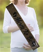 Gold Glitter Mom to be Sash