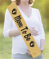 Mom To Be Sash Gold