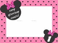 Frame type Minnie Photo Booth