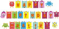 Monster Happy Birthday Bunting