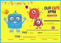 Monster Theme Invite