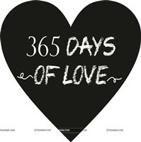 365 days of love Photo prop