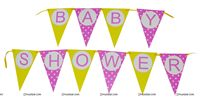Yellow Baby Shower theme Buntings