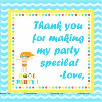 Pool Party Thank you notes