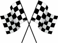 Chequered Flag cutout