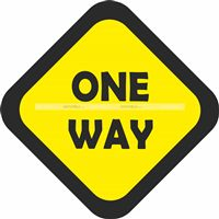 One way Cutout