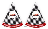 Race Car Theme Hats (Set of 6)