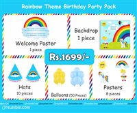 Rainbow Theme Mini Party Pack