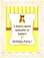 Teddy Yellow Welcome Cutout