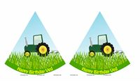 Tractor theme Hats (Set of 6)