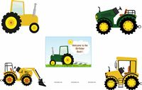 Tractor theme Poster Pack of 5