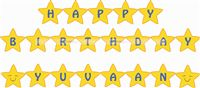Star Shaped Birthday Banner/Bunting