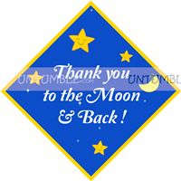 Star Theme Birthday Thank you cards