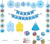 Underwater theme Paper Fan Party Kit