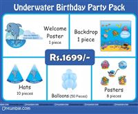 Under Water Theme Mini Party Pack