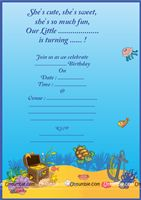 Underwater Theme Invite