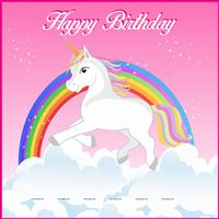 Rainbow Unicorn Birthday Banner