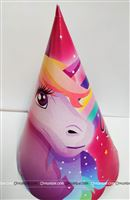 Magical Unicorn Purple Hats (Pack of 10 )