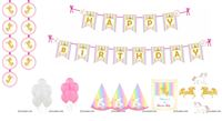 Unicrorn Super saver birthday decoration kit (Pack of 58 pieces)