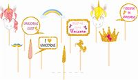 Photo Booth Props - Unicorn themed birthday party supplies & decorations