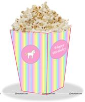 Unicorn Theme Pop Corn Cones