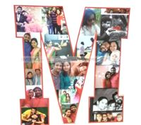 Letter Shaped photo collage