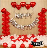 Valentine Balloon Decor Mega Kit (Pack of 85 pcs)