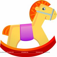 Rocking horse sticker