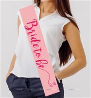 Bride to Be Sash Pink