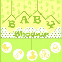 Baby Shower Green and Yellow Backdrop
