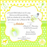 Yellow Rectangular Invite