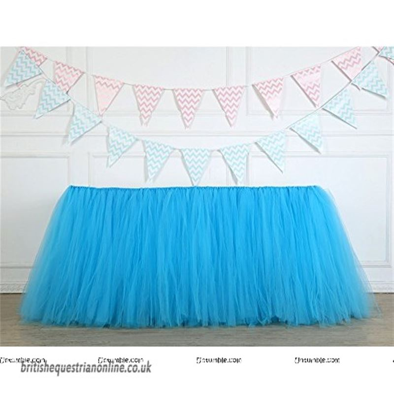 Blue tutu table skirt (4 ft x 2.5 ft)