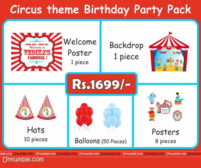 Circus Theme Mini Party Pack