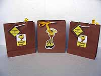 Giraffe Birthday theme Stickered gift bags
