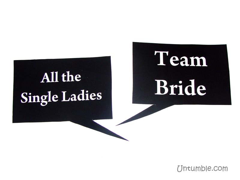 All the single ladies and team bride