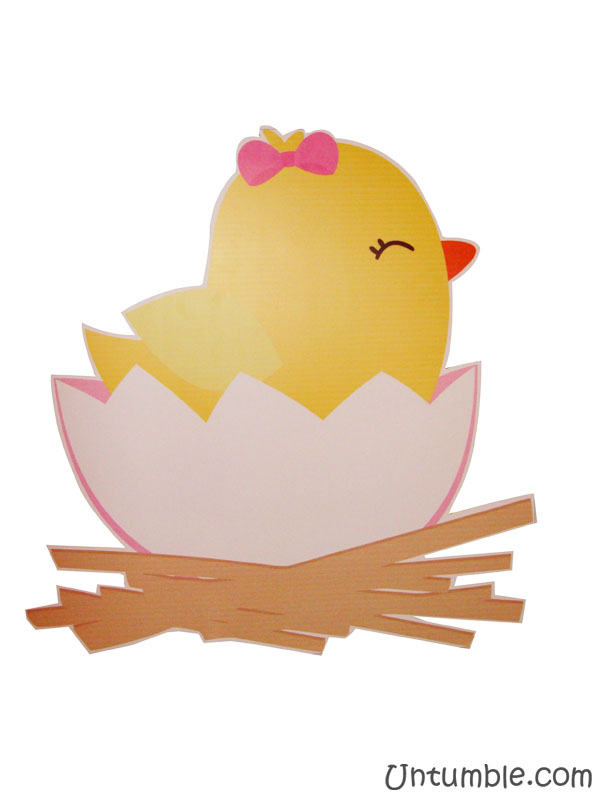 Yellow duck with pink bow