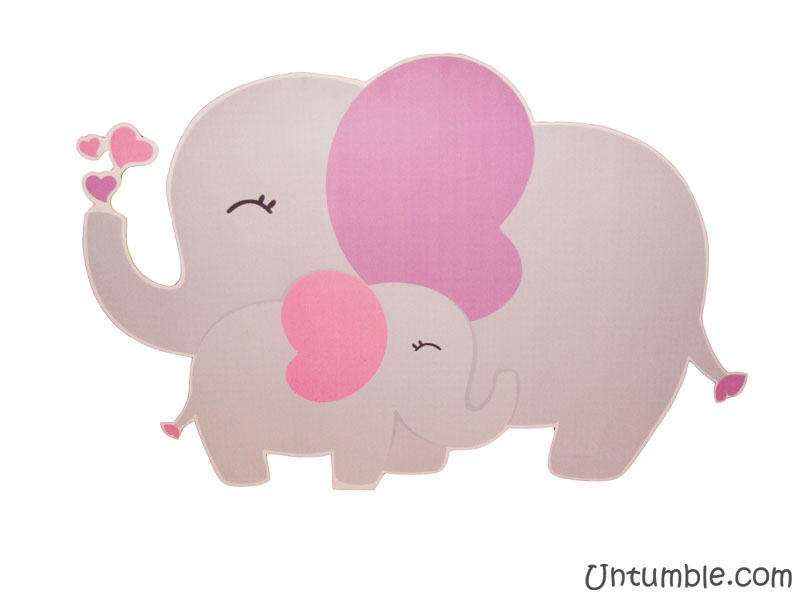Elephant baby and mummy