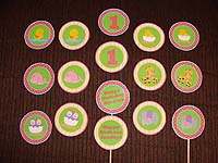 Baby Zoo birthday theme Cup cake toppers