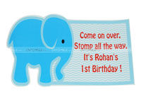 Elephant Theme Birthday Posters / Cutouts