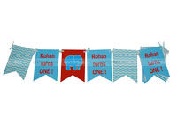 Elephant Theme Birthday Buntings