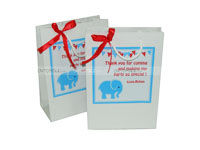 Elephant Theme Birthday Stickered gift bags