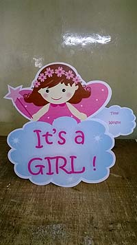 Its a girl wall decoration